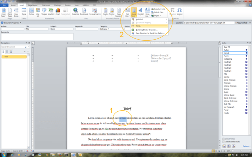 how to make a two sided document in word 2010
