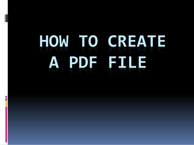 how to make pdfs from one document