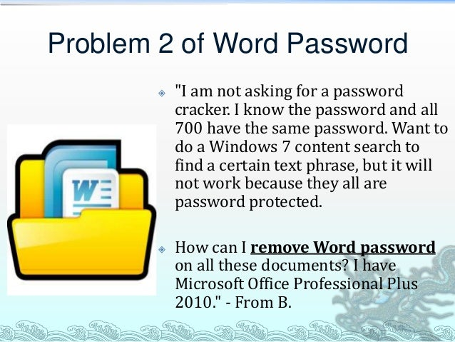 how to password protect a word document 2010