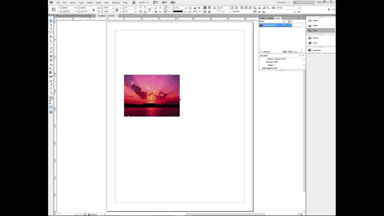 how to place a word document in indesign