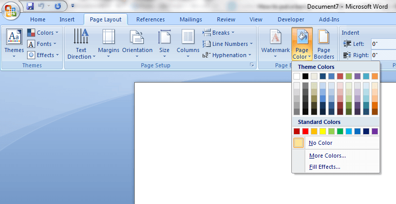 how to put a background on microsoft word document