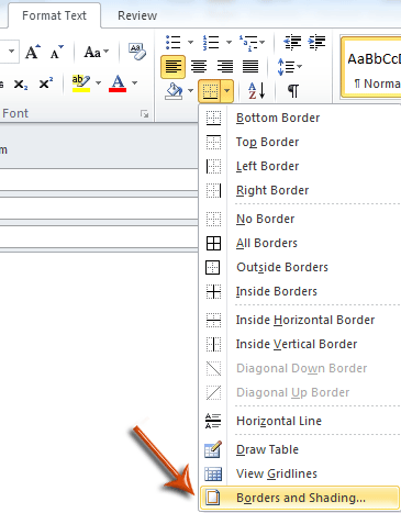 how to remove highlighting sections of a word document