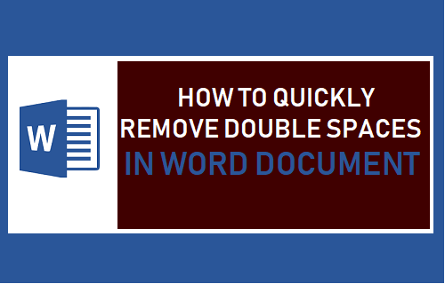 how to remove large spaces in word document