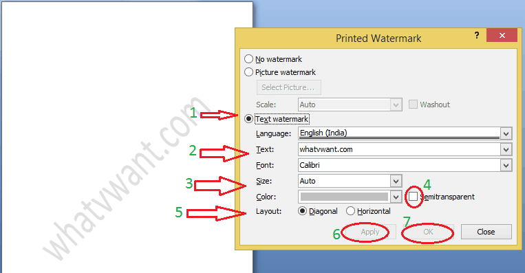 how to remove watermark from word document