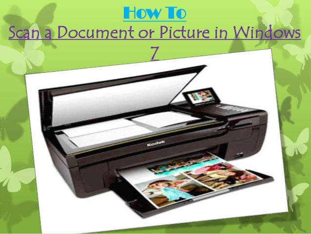 how to scan document from scanner to computer