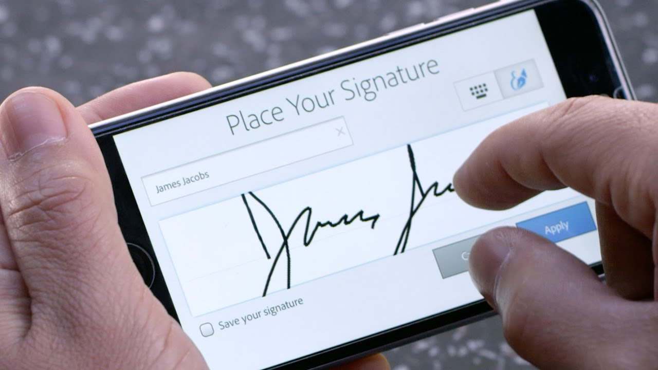 how to sign a document in adobe