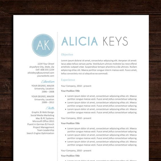 how to turn word document into resume layout