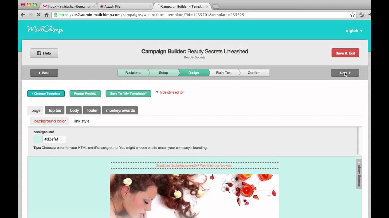 how to upload a document to mailchimp
