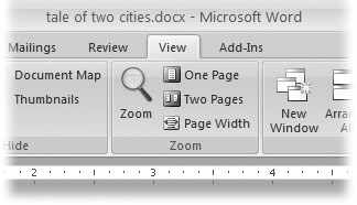 how to zoom a word document