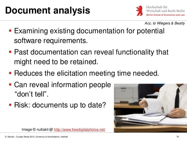 identifying risk and existing documentation