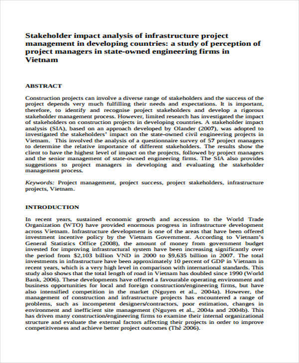 impact analysis document template software