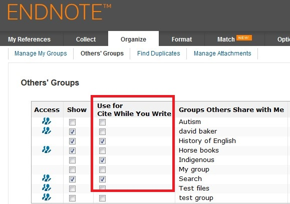 in endnote how to choose website document