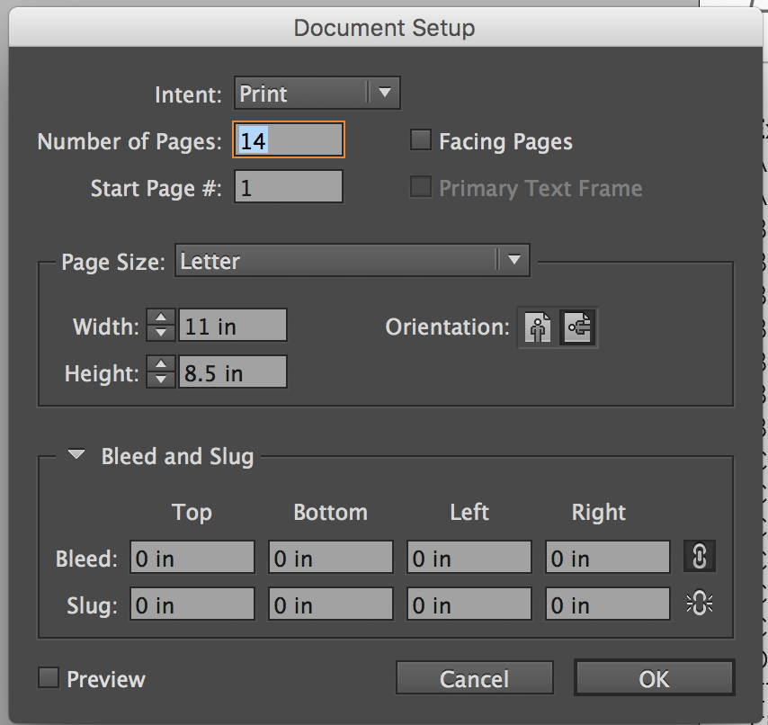 indesign change margins for whole document