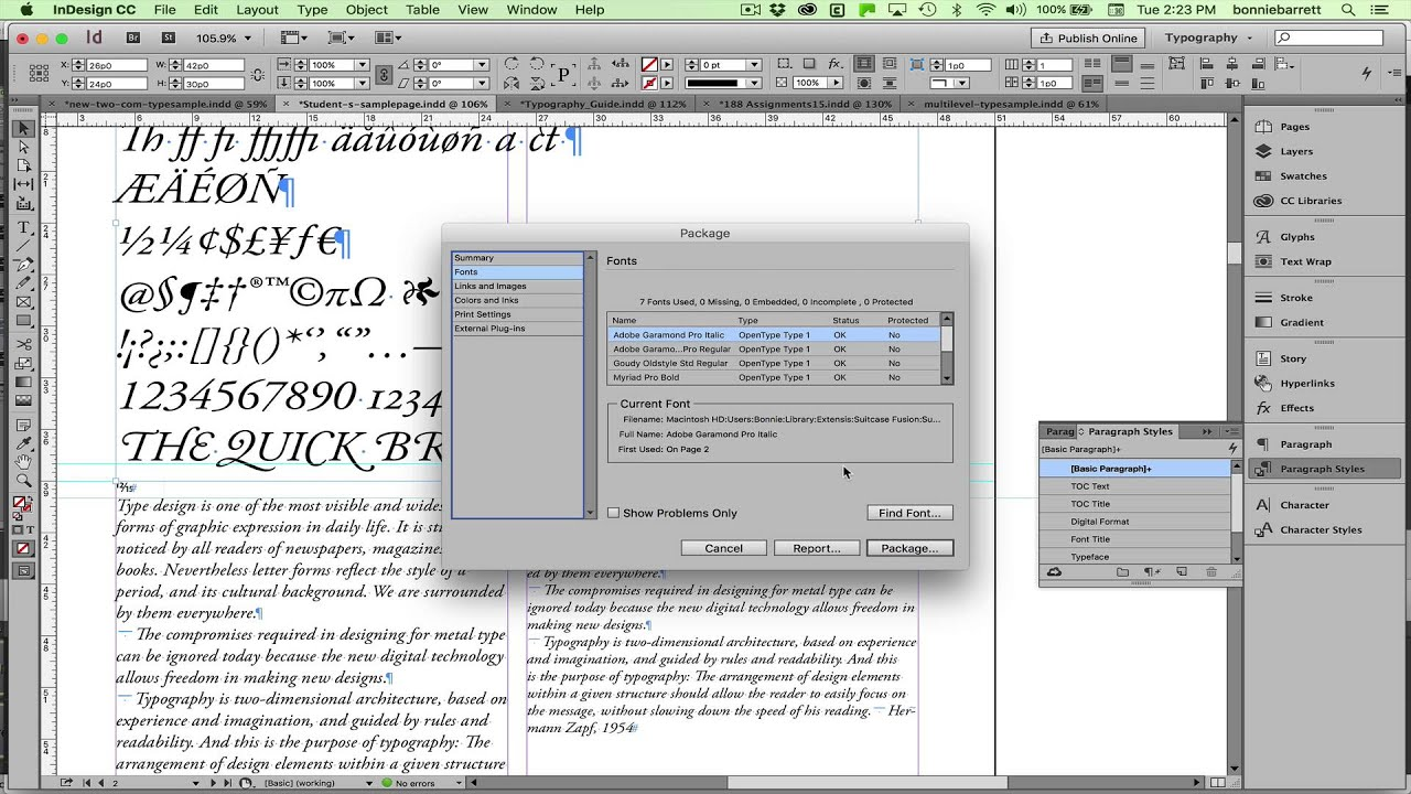 indesign could not package the document failed to create pdf