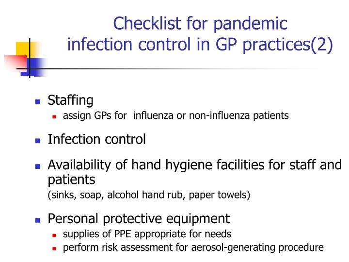 infection control risk documentation