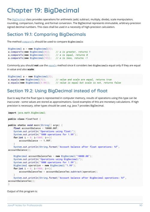 java documentation example code