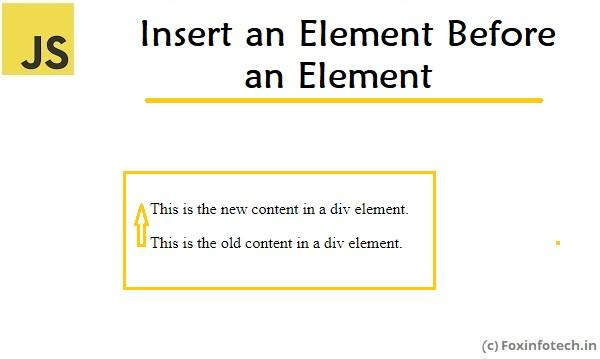js document element insert before