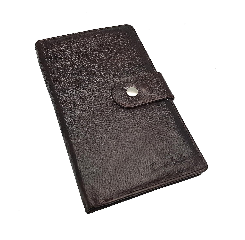 leather family travel document holder
