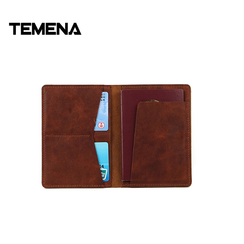 leather passport travel document holder