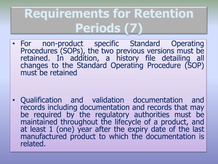 legal requirements for document retention
