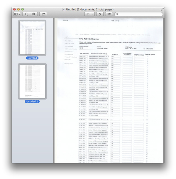 mac os x scan document
