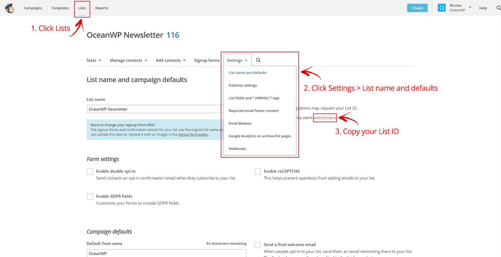 mailchimp api v2 documentation