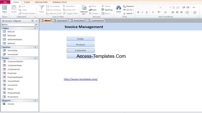 microsoft access document management template