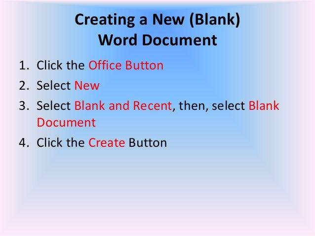 microsoft office word document 2007