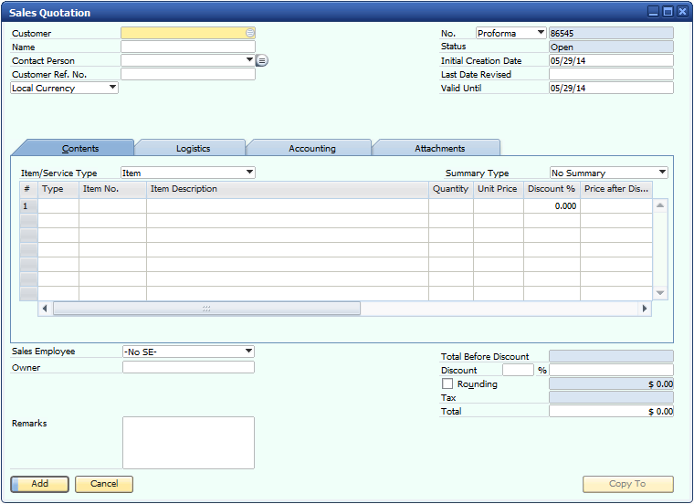 name of document owner in pld in sap business one