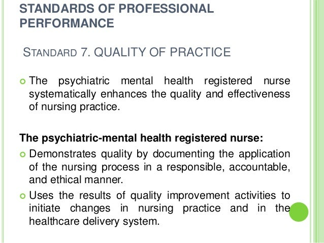 nursing documentation standards of practice