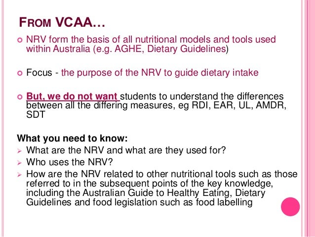 nutrient reference values for australia and new zealand nrv document