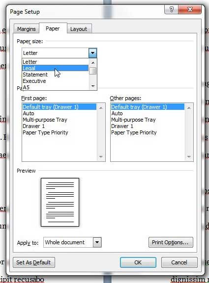 open document from default directory in word 2010