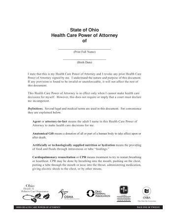 power of attorney document act
