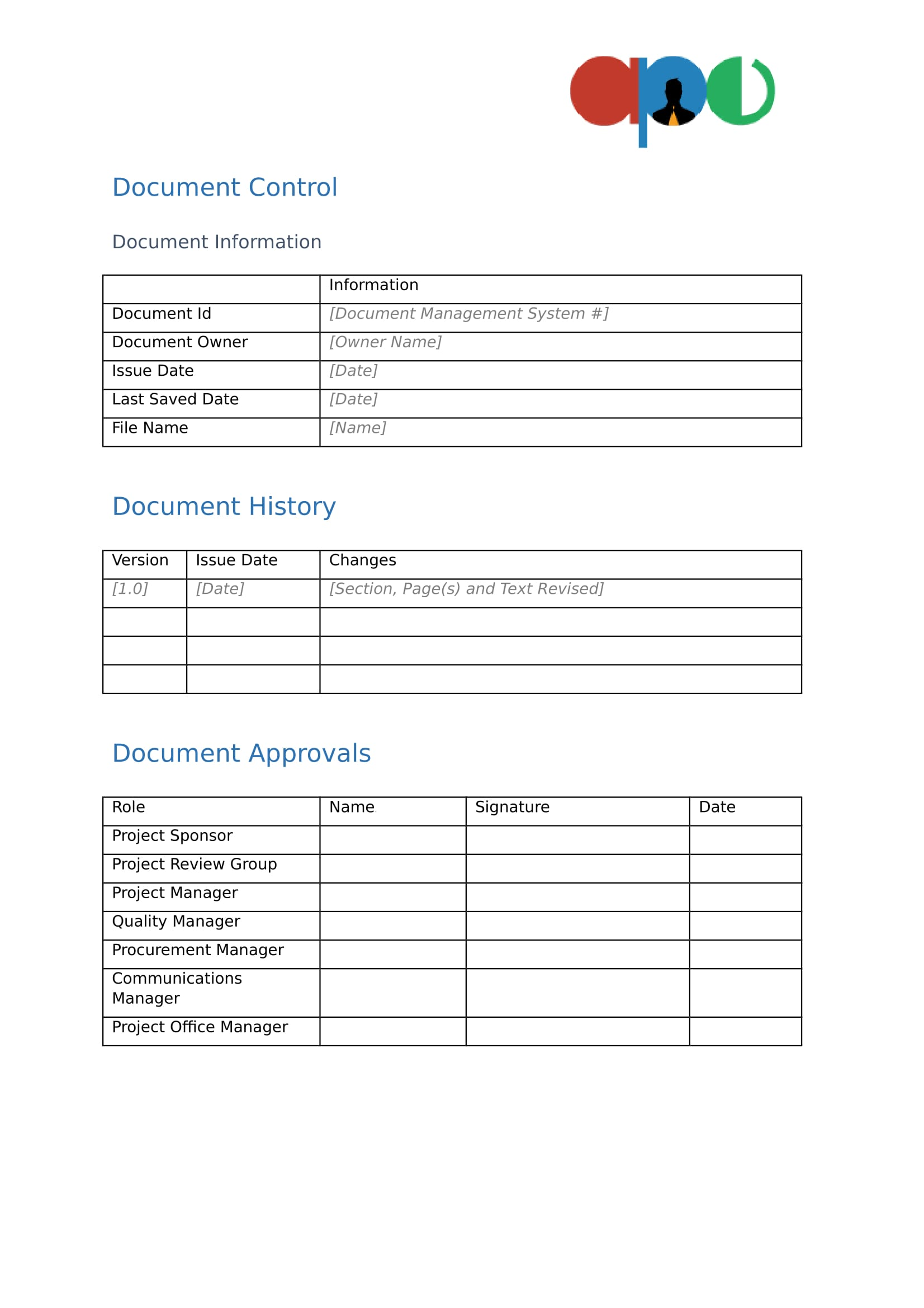 project initiation documentation template