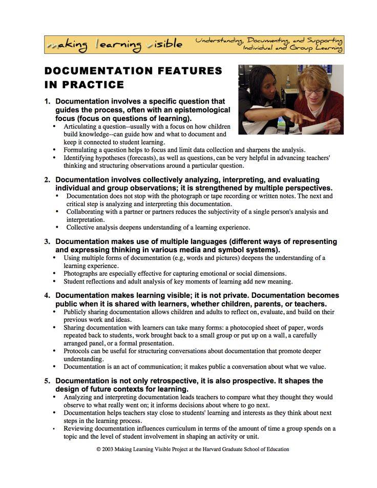reggio emilia documentation template
