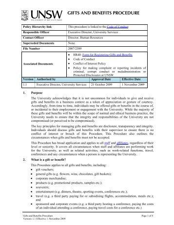 register document for backup procedures