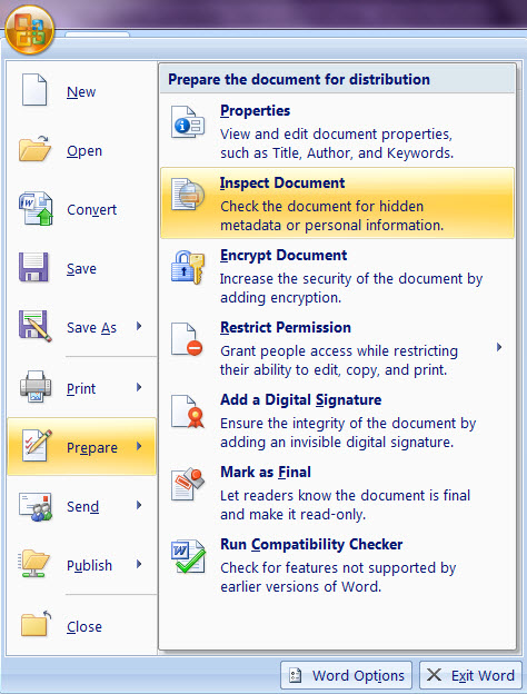remove all hyperlinks from office document