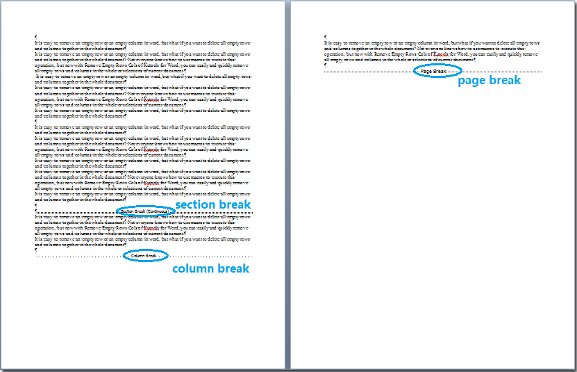 remove all section breaks in word document