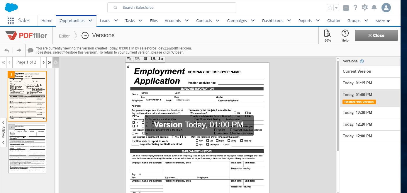 restore old version of word document