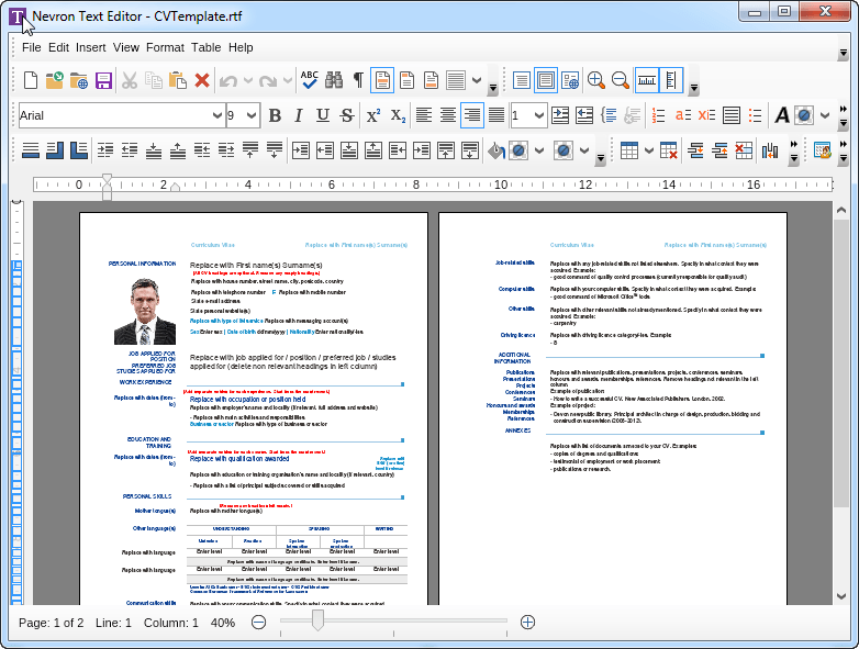 rich text document download for windows 7