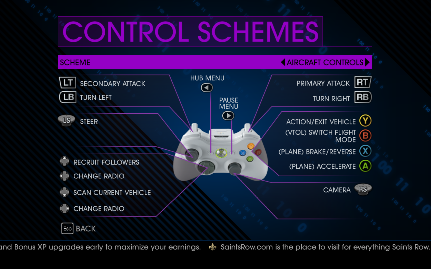 saints row 4 settings document