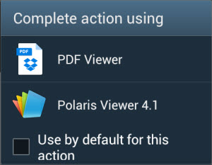 samsung pdf document default viewer