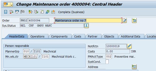 sap process order change document