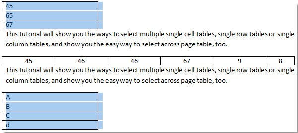 select all tables in word document