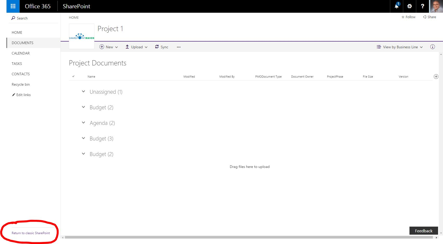 sharepoint online change the look does not change document library