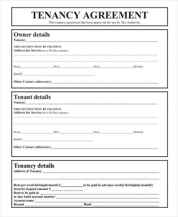 simple tenancy agreement uk word document