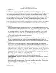 srs document for hotel management