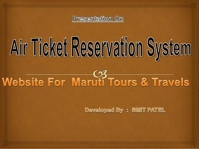 srs document for online ticket booking system