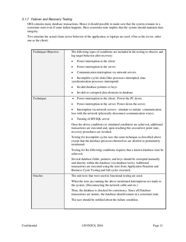 system test plan sample document