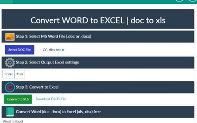 transferring word document to excel
